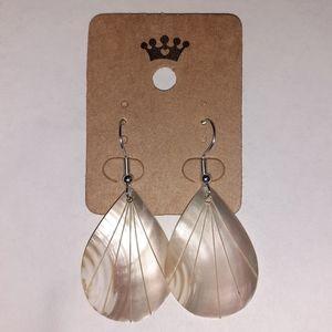 Natural Shell Teardrop Earrings